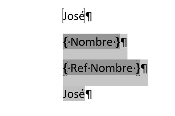 referencias-cruzadas. Ejempo del campo REF con el marcador Nombre