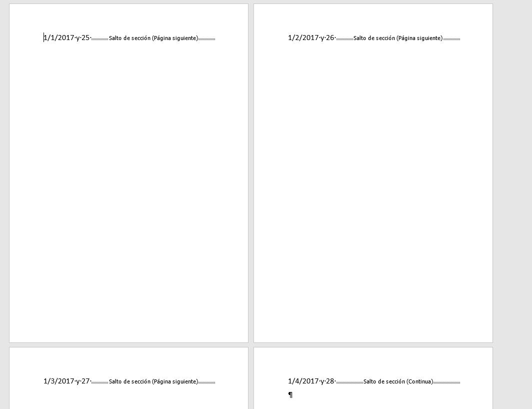 Errores de formato al combinar correspondencia. Resultado de una combinación sin confirmar el formato con errores.