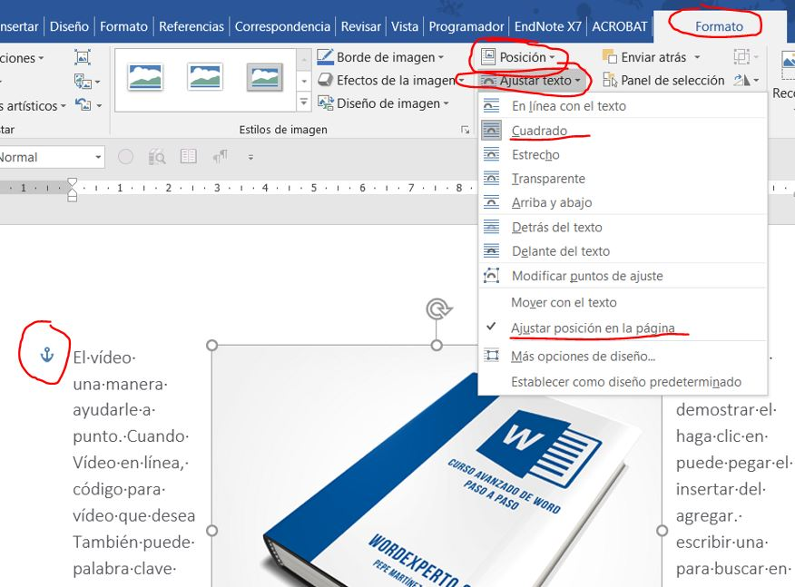 Insertar Ilustraciones Flotantes No En Línea Con El Texto