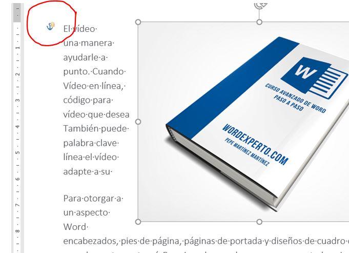 Mover con el texto. Una imagen anclada y bloqueada a un determinado párrafo